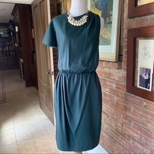 Banana Republic Asymmetric Dark Teal Dress 4
